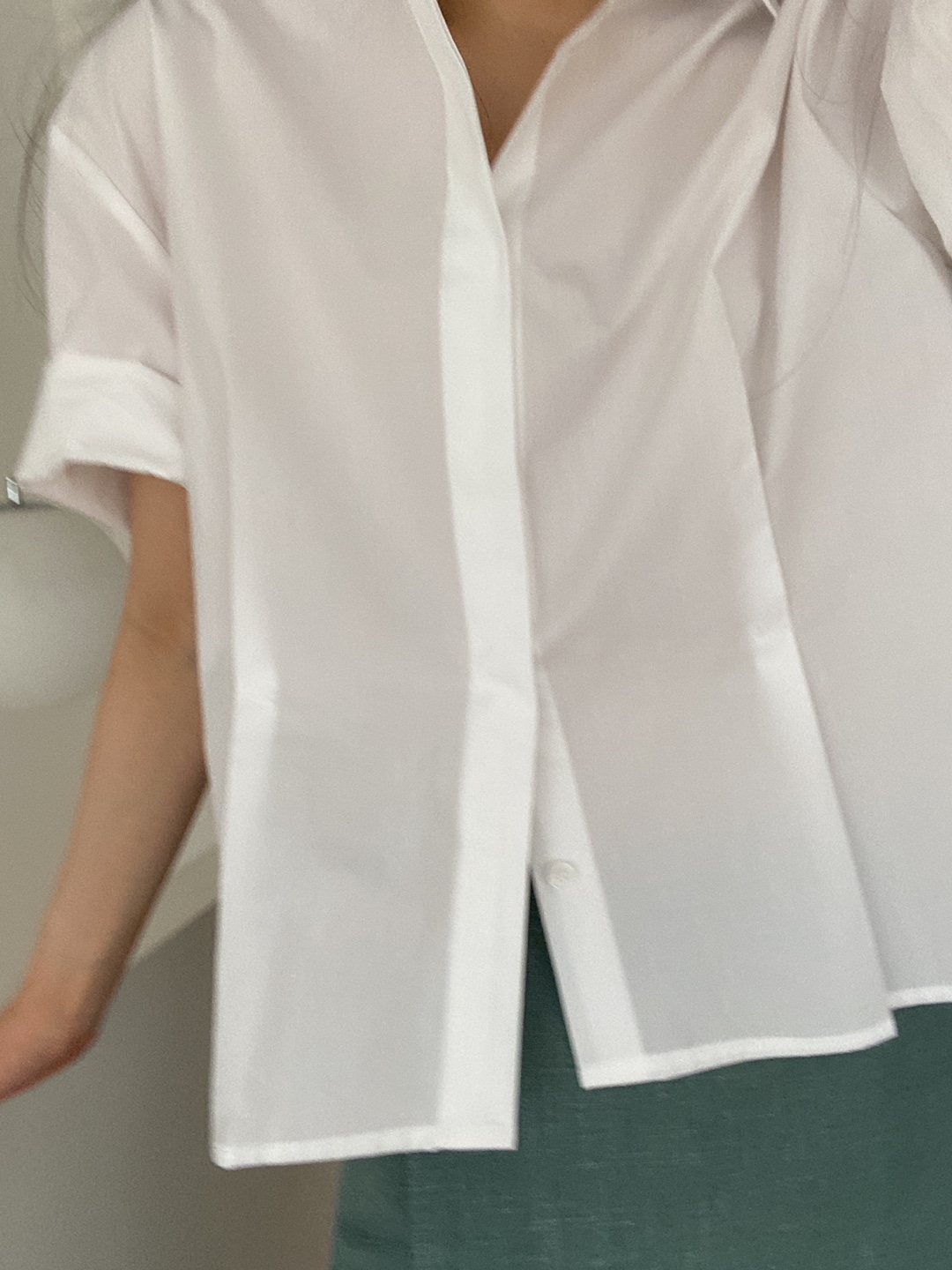 bell sleeve shirts-white